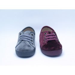 Zapatos Niños Terciopelo Cordones Batilas 53551