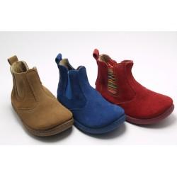 Botas de Piel Niño Niña Camel Azul Rojo Baratas 1108 1088 Chispas