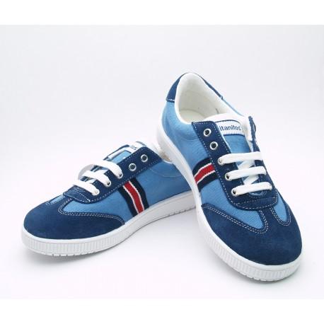 Zapatillas Lona Niño Azul U750 ATHLETIC Titanitos