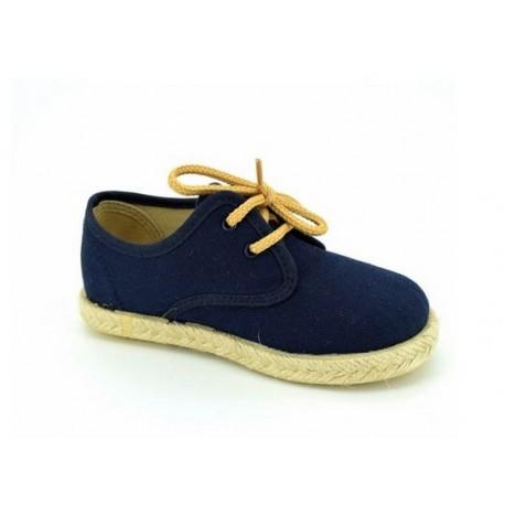 Zapatos Niño Lona Marino E267 BolaBola