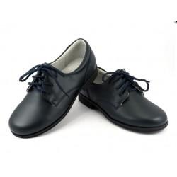 Zapatos Comunión Marino Piel Niño Baratos B520 Bubble Bobble