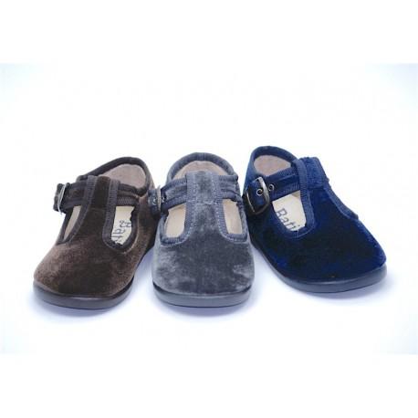 Zapatos Pepitos Tercipelo Niño Baratos 12651 Batilas