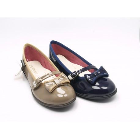 Zapato Merceditas Francesita Niña Charol Lazo T650J86355 Titanitos