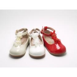 Zapatos Merceditas Niña Charol A1441 Bubble Bobble