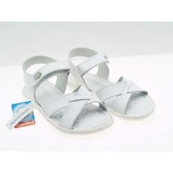 Sandalia Piel Lavable Niña Blanco Baratas T640E60048 Titanitos