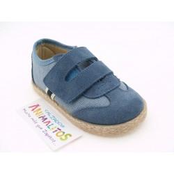Zapato Lino Piel Azul 37/S Cinta Y-02 Chuches