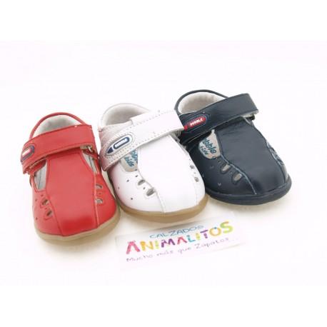 Zapato Piel Verano Niño Barato A2411 Bubble Bobble