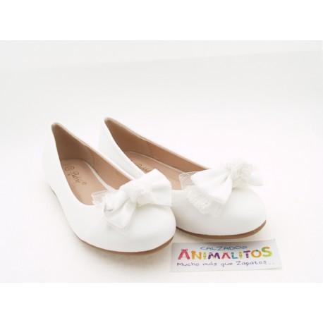 Zapatos Niña Comunión Blanco Baratos A2871 Bubble Bobble