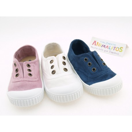 Zapatillas de lona con puntera de goma niño niña zapy