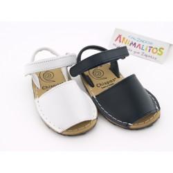 Menorquinas Blanco y Marino 213 Chispas