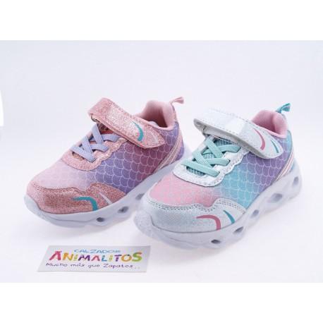 Zapatillas de Luces Niña Bubble Bobble