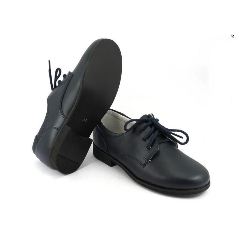 95f9d21406e Zapatos Comunión Marino Piel Niño Baratos B520 Bubble Bobble