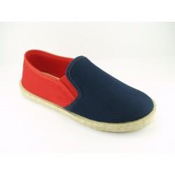 Zapatillas de lona marino rojo baratas 333/Piso Yute Chuches